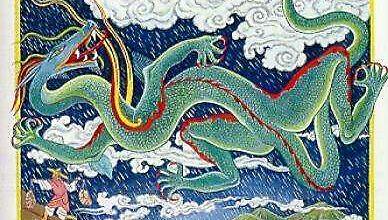 Китаец пробует убежать от дракона