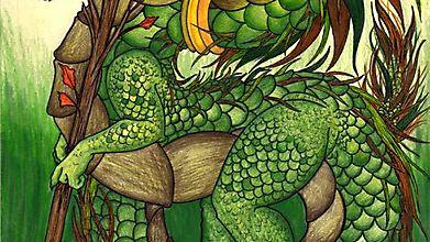 Юная драконица кушает деревья