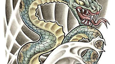 Разьярённый адский змей