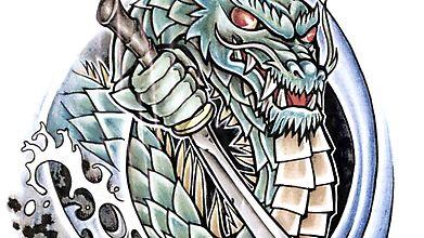 Морской дракон, вооружившийся мечом