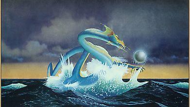 Морской дракон созерцает магическую сферу