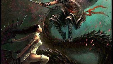 Битва юной девы и старика, повелевающего драконом