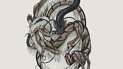 Белогривый дракон в ездовой упряжи